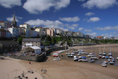 Tenby. Harbour at low tide, , Wales, UK stock photography