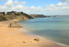 Tenby beach in April Stock Photo