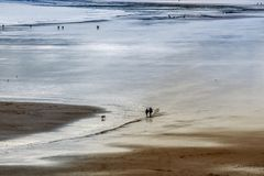 Tenby Beach. Bay and beautiful beach in Tenby, Wales, UK Stock Photography