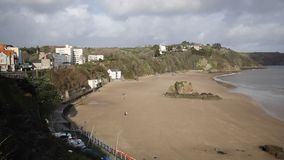 Tenby beach and coast Pembrokeshire Wales Royalty Free Stock Photo