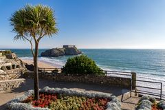 Pembrokeshire coast in Tenby, Wales, UK. Tenby Beach in Pembrokeshire, Wales, England, UK royalty free stock images