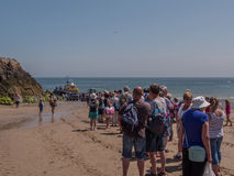 Tenby by boat to Caldey Island Wales Stock Photography