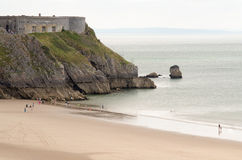 Tenby Castle Stock Photography