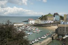 Tenby. Coastal town in Pembrokeshire South Wales. View of the harbour Stock Image