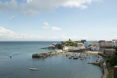 Tenby. Coastal town in Pembrokeshire South Wales. View of the harbour Royalty Free Stock Images