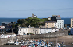 Tenby harbour at low Tide Stock Image