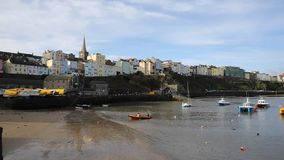 Tenby harbour Pembrokeshire Wales PAN Stock Photo
