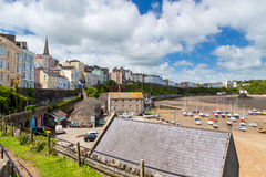 Tenby Harbour Wales. Overlooking Tenby Harbour in Carmarthen Bay, Pembrokeshire, South West Wales, UK Europe Royalty Free Stock Photo