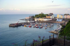 Tenby high tide Royalty Free Stock Photography