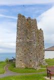 Tenby kasztelu ruiny zdjęcie royalty free