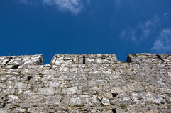 Tenby Medieval stone wall Stock Images