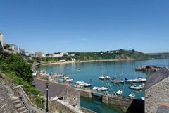 Tenby Panorama Royalty Free Stock Photos