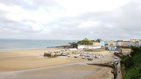 Tenby on the pembrokeshire coast . Sw wales uk. Tenby on the pembrokeshire coast . Pembrokeshire coast line south wales Royalty Free Stock Image