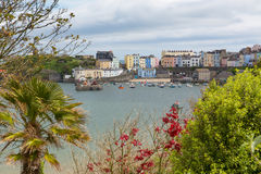 Tenby Pembrokeshire Wales Coast UK. Tenby Pembrokeshire Wales.  Medieval walled fishing town on west side of Carmarthen Bay with great beaches and history. In Stock Photography