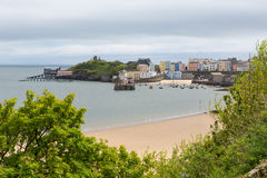 Tenby Pembrokeshire West Wales. Tenby Pembrokeshire Wales historic Welsh town on west side of Carmarthen Bay with great beaches and history Royalty Free Stock Photos