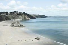 Tenby plaża w południowych waliach Zdjęcia Royalty Free