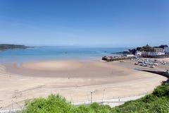 Tenby plaża i schronienie Zdjęcie Royalty Free