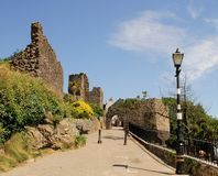 Tenby Ruins. These old ruins at Tenby in southwest Wales house the town museum that tells you a lot about the interesting history of the old settlement Stock Photo