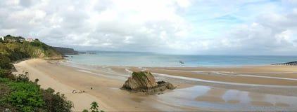 Tenby sur la côte de pembrokeshire Commutateur Pays de Galles R-U Images stock