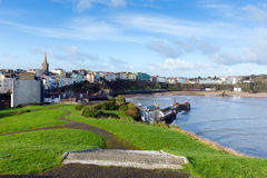 Tenby view of harbour Pembrokeshire Wales UK Royalty Free Stock Images