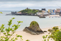 Tenby Wales. Tenby Pembrokeshire Wales historic Welsh town on west side of Carmarthen Bay with great beaches and history Stock Image