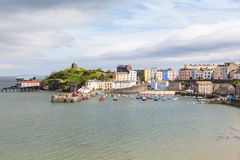Tenby Wales. Tenby Pembrokeshire Wales historic Welsh town on west side of Carmarthen Bay with great beaches and history Stock Photo