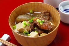 Tendão de carne cozido japonês de Gyusuji Nikomi fotografia de stock