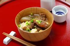 Tendão de carne cozido japonês de Gyusuji Nikomi foto de stock