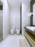 Tendência contemporânea do banheiro Fotografia de Stock Royalty Free