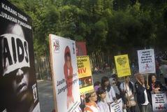 TENDÊNCIA DA PROPAGAÇÃO DO SIDA DE INDONÉSIA VIH Foto de Stock