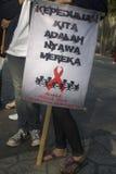 TENDÊNCIA DA PROPAGAÇÃO DO SIDA DE INDONÉSIA VIH Imagem de Stock