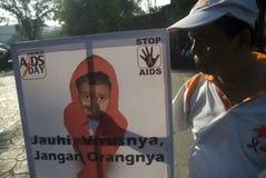 TENDÊNCIA DA PROPAGAÇÃO DO SIDA DE INDONÉSIA VIH Imagens de Stock
