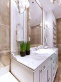 Tendência do banheiro do art deco Foto de Stock