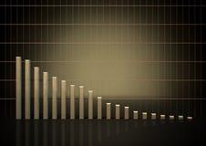 Tendência do gráfico de barra Imagem de Stock Royalty Free