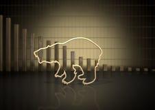 Tendência do mercado de urso Fotografia de Stock Royalty Free
