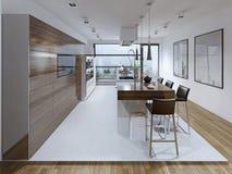 Tendência espaçoso da cozinha Imagem de Stock Royalty Free