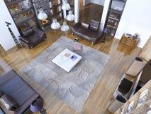 Tendência nova da sala de visitas moderna Foto de Stock Royalty Free