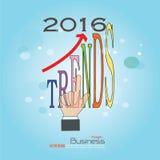 2016 tendências Imagens de Stock