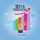 2016 tendências Imagens de Stock Royalty Free