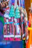 Tenda alemão dos doces do mercado no Natal justo Imagem de Stock Royalty Free
