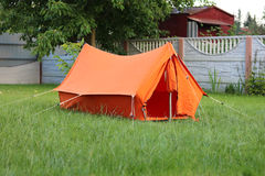 Tenda arancio della vecchia scuola fotografie stock