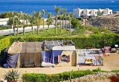 Tenda beduina egiziana del narghilé Immagine Stock Libera da Diritti