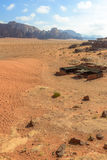 Tenda beduina nel deserto di Wadi Rum Fotografie Stock