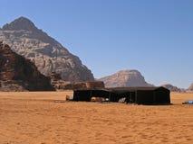 Tenda beduina, rum GIORDANO dei wadi Fotografia Stock