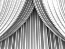 Tenda bianca del teatro Fotografia Stock
