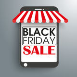 Tenda Black Friday del negozio di Smartphone Fotografia Stock
