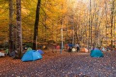 Tenda che si accampa in Bolu Fotografie Stock