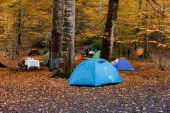 Tenda che si accampa in Bolu Fotografia Stock