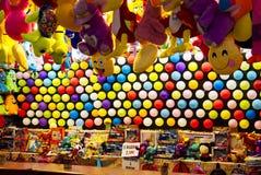 Tenda colorida do recinto de diversão, Velez Malaga, Espanha Fotos de Stock Royalty Free