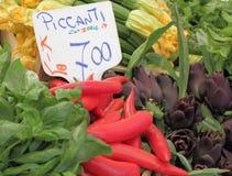 Tenda com vegetais Imagem de Stock